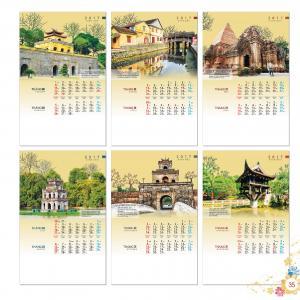 HT-23: Lịch treo tường lò xo (7 tờ) - Phong cảnh Việt Nam